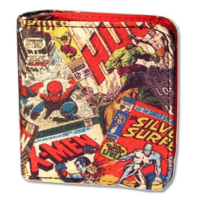 Marvel Comic® Retro Zip Wallet
