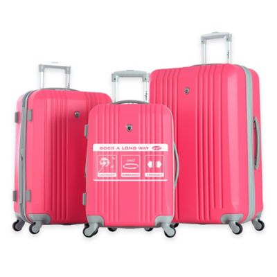 Pink Wheeled Luggage