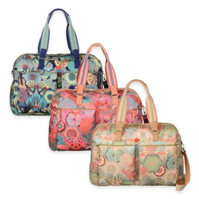 Oilily® Spiro Flower Weekender Travel Bag in Peach