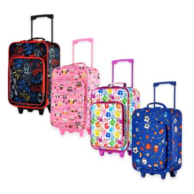 Olympia® USA Playday 19-Inch Rolling Carry On Suitcase in Pink Owl Print