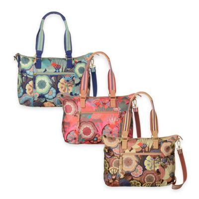 Oilily® Spiro Flowers Medium Carry All in Peach Rose