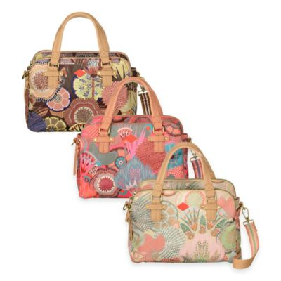 Oilily® Spiro Flowers Tote Handbag in Peach Rose