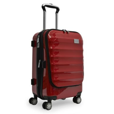 Adrienne Vittadini 21-Inch 8-Wheel Expandable Rolling Business Carry On Suiter in Red