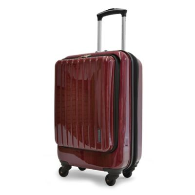 Adrienne Vittadini 21-Inch 8-Wheel Expandable Rolling Business Carry On Suiter in Merlot