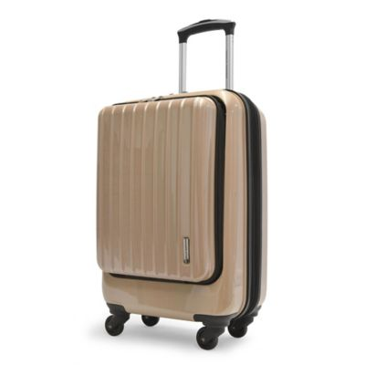 Adrienne Vittadini 21-Inch 8-Wheel Expandable Rolling Business Carry On Suiter in Tan
