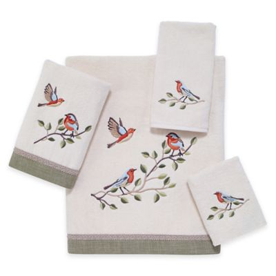 Birdchoir Hand Towel in Ivory
