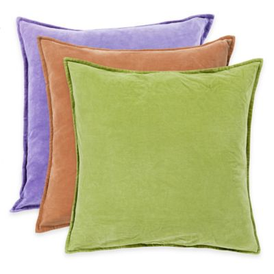 Surya Velizh 20-Inch Square Throw Pillow in Olive