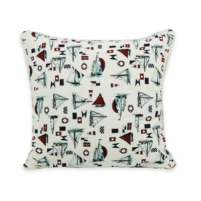 Newport Rig Sailboat 20-Inch Square Throw Pillow