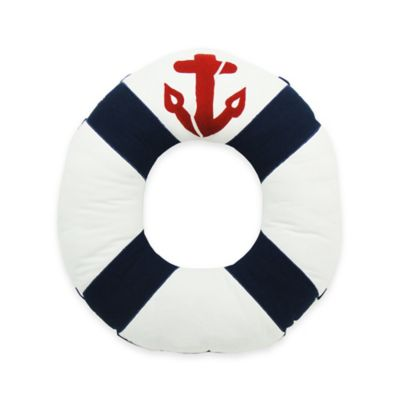 Newport Lifesaver Throw Pillow