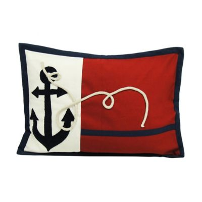 Newport Droque Anchors Flag Throw Pillow