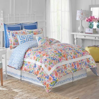Dena™ Home Chinoiserie Garden Reversible Full/Queen Duvet Cover in Blue/White