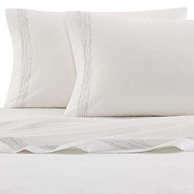 ED Ellen DeGeneres Greystone Twin Sheet Set in Off White