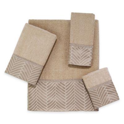 Avanti Interlace Washcloth in Linen