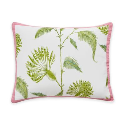 Dena™ Home Palm Court Reversible King Pillow Sham in White/Pink