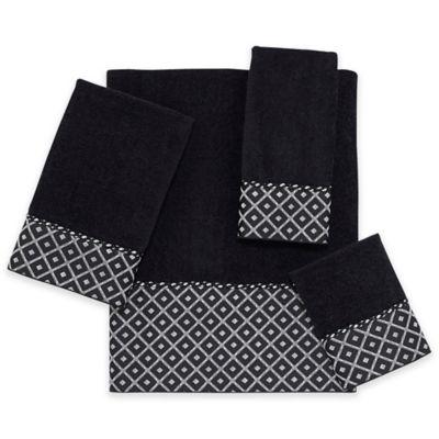 Black Fingertip Towels