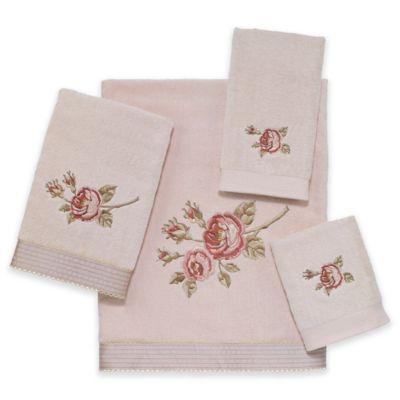 Rose Chic Bath Towel in Linen