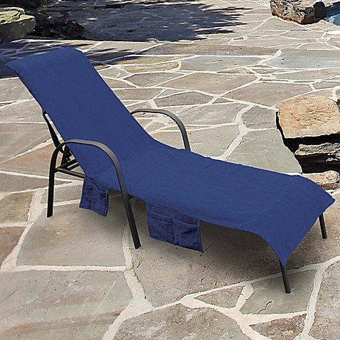 Ultimate Chaise Lounge Chair Cover With Storage Pockets