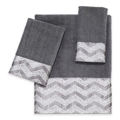 Avanti Chevron Nickel Bath Towel