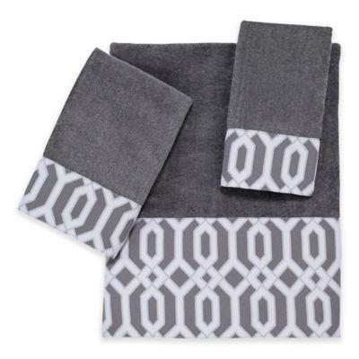 Avanti Fretwork Nickel Bath Towel