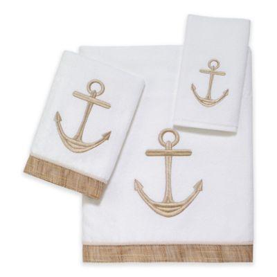 Avanti Rockport Bath Towel in White