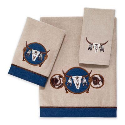 Avanti Longhorn Hand Towel in Linen