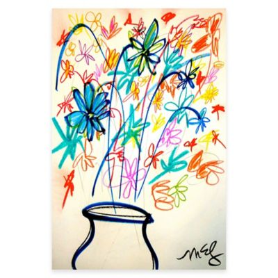 Marmont Hill Flower Vase 24-Inch x 36-Inch Canvas Wall Art
