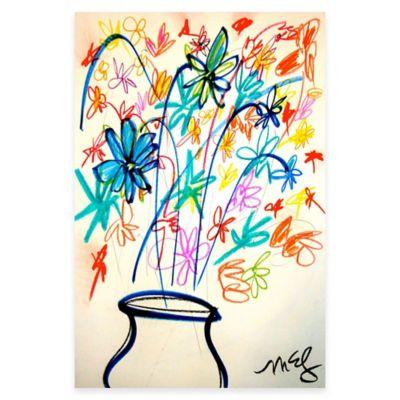 Parvez Taj Flower Vase 24-Inch x 36-Inch Canvas Wall Art