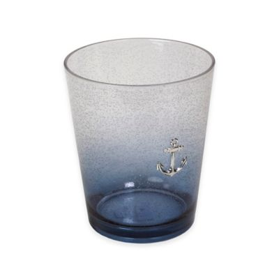 Anchors Ombré Bubble Plastic Wastebasket