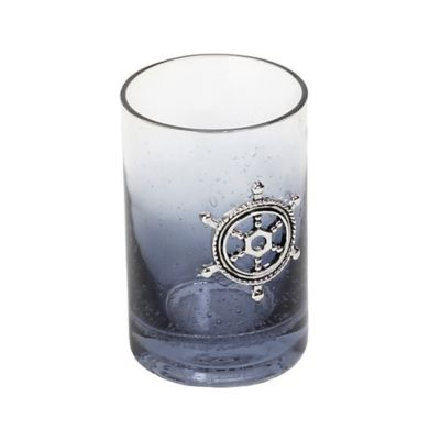 Anchors Ombré Bubble Glass Tumbler