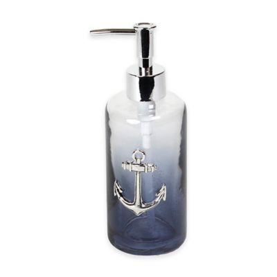 Anchors Ombré Bubble Glass Lotion Dispenser
