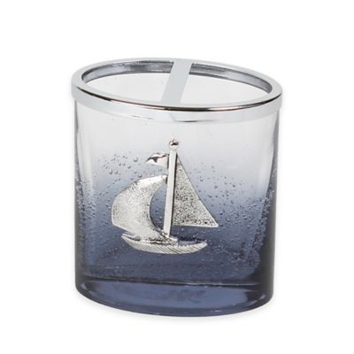Anchors Ombré Bubble Glass Toothbrush Holder