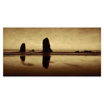 Parvez Taj Pastel Evening On The Coast 45-Inch x 22-Inch Canvas Wall Art