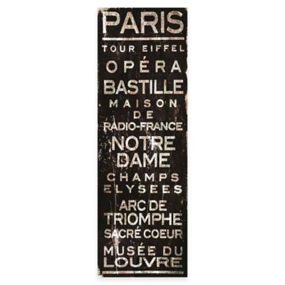Marmont Hill Paris 20-Inch x 60-Inch Canvas Wall Art
