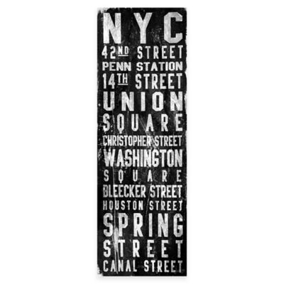Marmont Hill Union Square 20-Inch x 60-Inch Canvas Wall Art