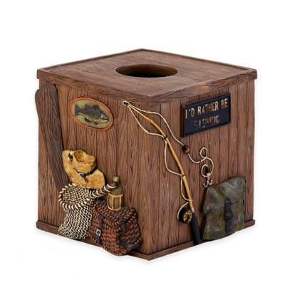Avanti Rather Be Fishing Boutique Tissue Box Cover