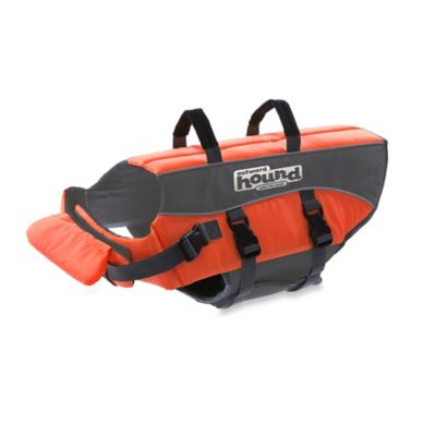 Ripstop Adjustable XS Life Jacket for Dogs in Orange
