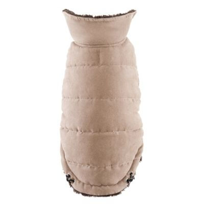 Friends Forever Jax X-Small Faux Suede Pet Coat in Brown
