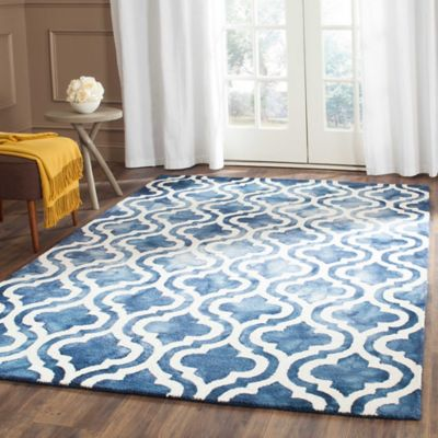 Safavieh Dip Dye Double Trellis 5-Foot x 8-Foot Area Rug in Blue/Ivory