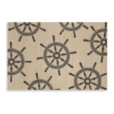 Trans-Ocean 60-Inch x 90-Inch Front Porch Ship Wheel Door Mat
