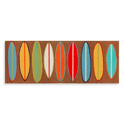 Trans-Ocean 27-Inch x 72-Inch Front Porch Surfboards Door Mat