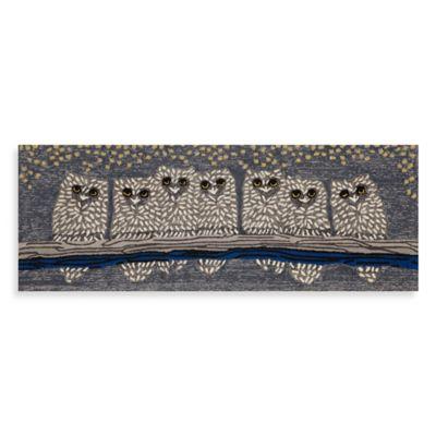 Trans-Ocean 27-Inch x 72-Inch Front Porch Owls Door Mat