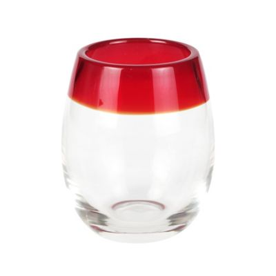 Red Stemless Glass
