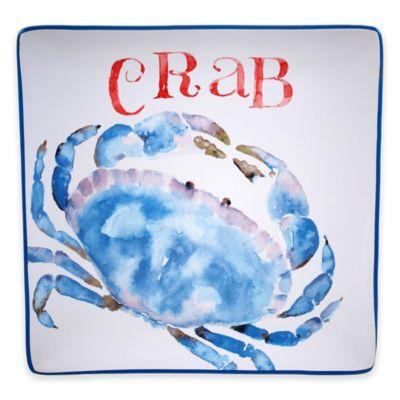 Caribbean Joe Beach House Kitchen Crab Square Platter