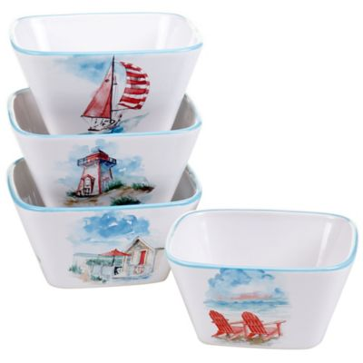 Certified International In the Moment Square Ice Cream Bowls (Set of 4)