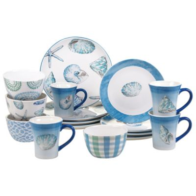 Certified International Sea Finds 16-Piece Dinnerware Set