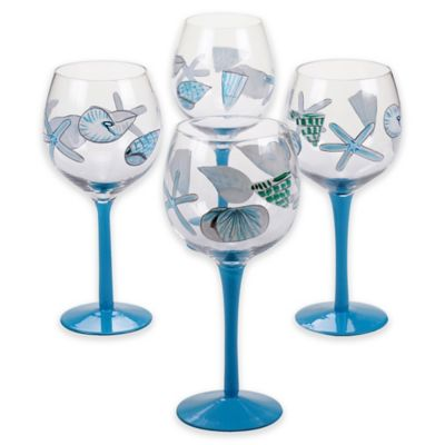 Sea Finds Wine Glasses