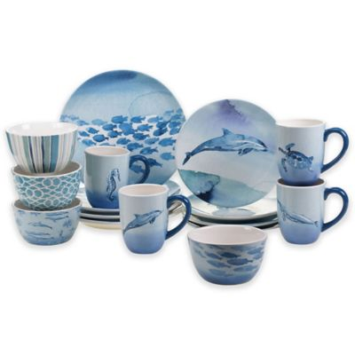 Certified International Sea Life 16-Piece Dinnerware Set