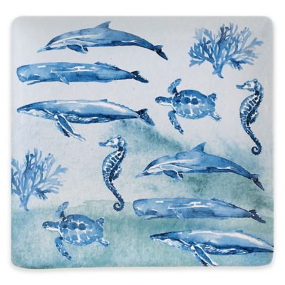 Certified International Sea Life 12.5-Inch Square Platter