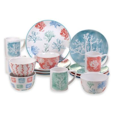 Certified International Water Coral 16-Piece Dinnerware Set