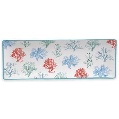 Certified International Water Coral 16-Inch Rectangular Platter
